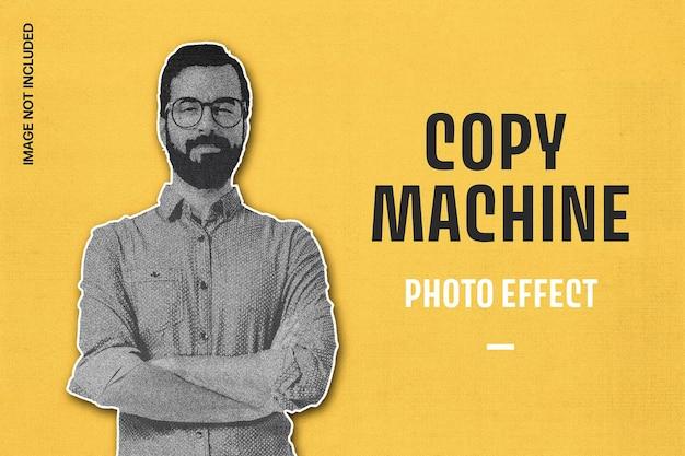 Copy machine print photo effect template Premium Psd