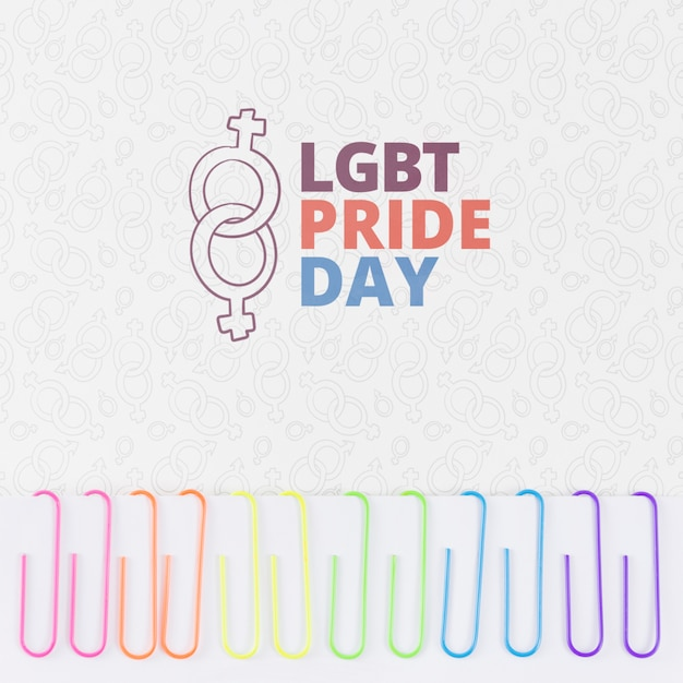 Copyspace mockup for lgbt pride day Free Psd