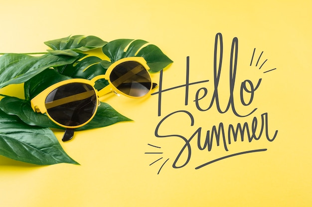 Copyspace mockup for summer concepts Free Psd