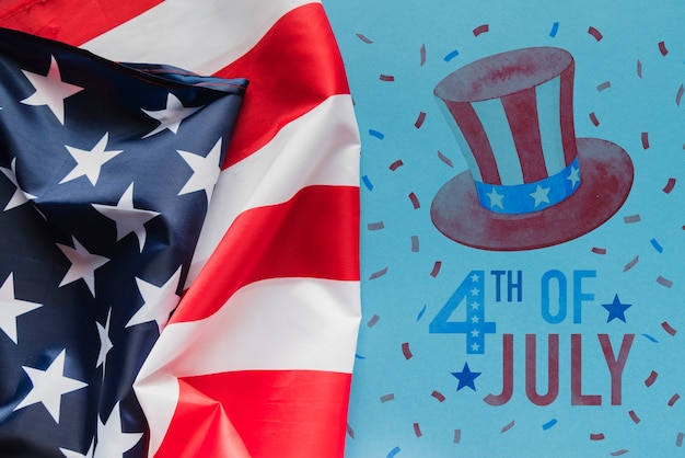 Copyspace mockup for usa independence day Free Psd