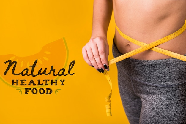 Copyspace mockup with healthy food concept Free Psd