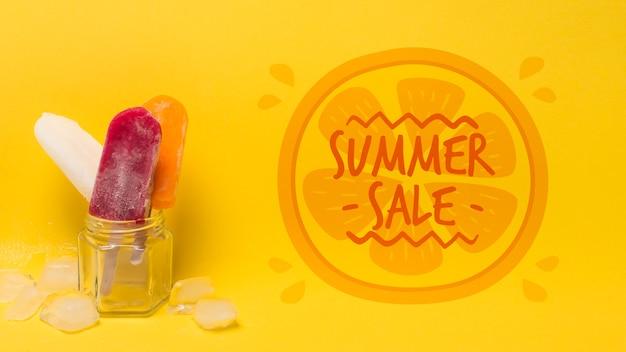 Летняя композиция мороженого с copyspace Бесплатные Psd