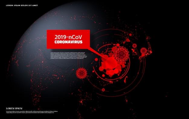 Coronavirus 2019-ncov concept Premium Psd