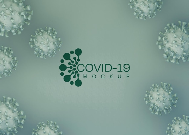 Coronavirus background mockup. covid-19. Free Psd