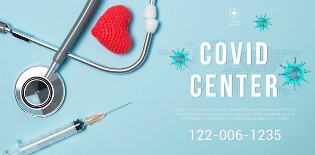 Coronavirus banner Premium Psd