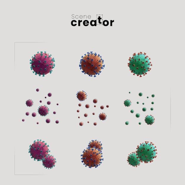 Coronavirus creatore di scene di concetto Psd Gratuite
