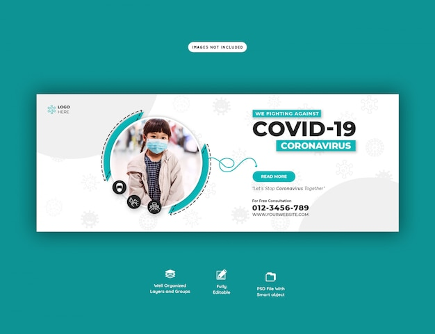 Coronavirus or covid-19 banner template