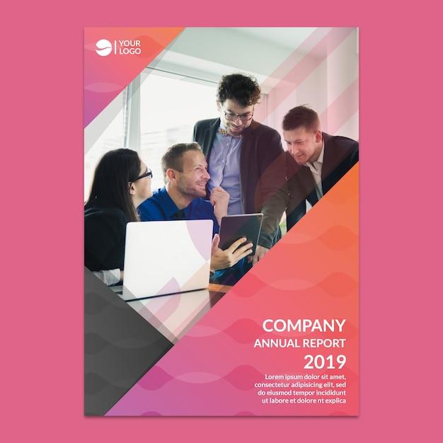 Макет корпоративного годового отчета Premium Psd