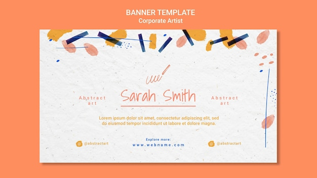 Corporate artist concept banner template Free Psd
