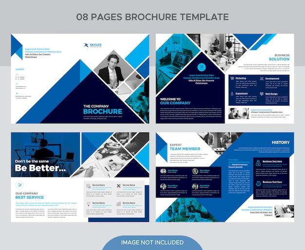 企業の小冊子ページテンプレート Premium Psd