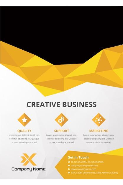 Corporate brochure template PSD file | Premium Download
