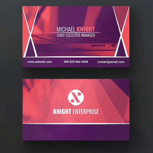Corporate Business Card Template Psd File Free Download