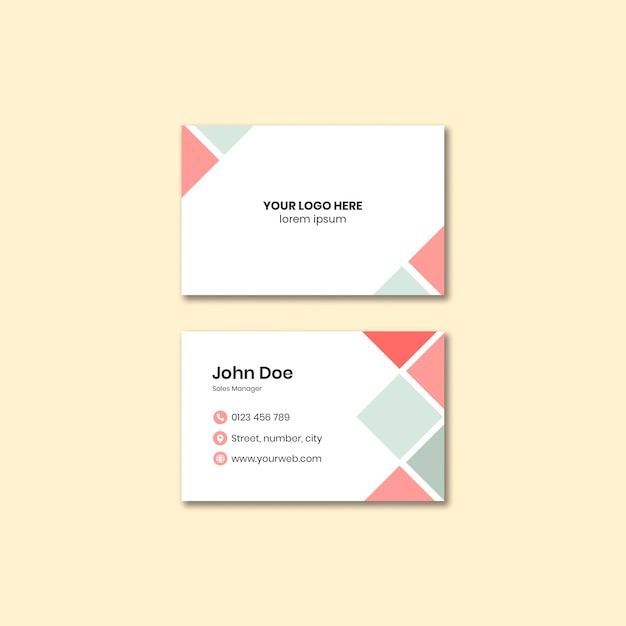 Corporate business card template Free Psd