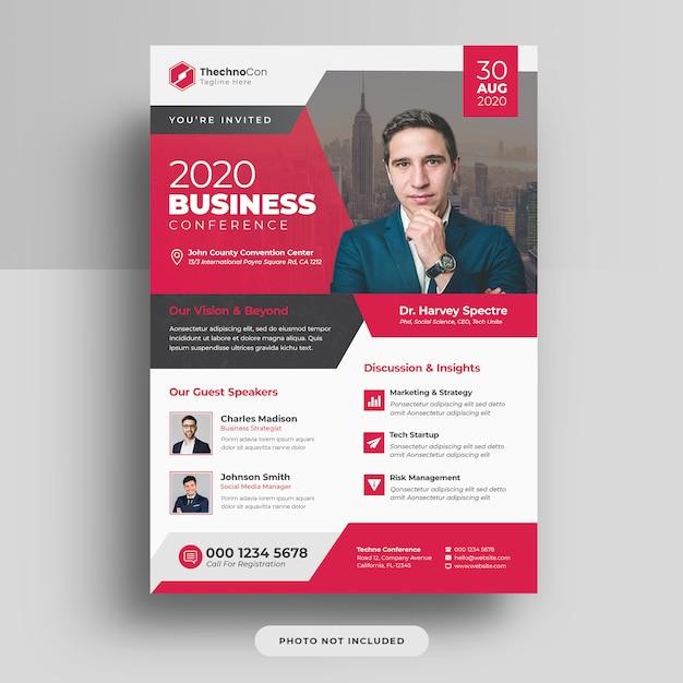 企業ビジネス会議a4カバーチラシテンプレートデザイン Premium Psd