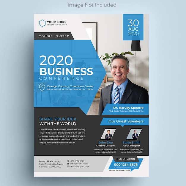Corporate business conference flyer Premium Psd
