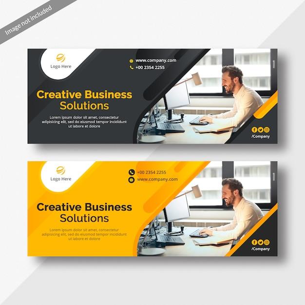 Corporate business facebook cover Premium Psd