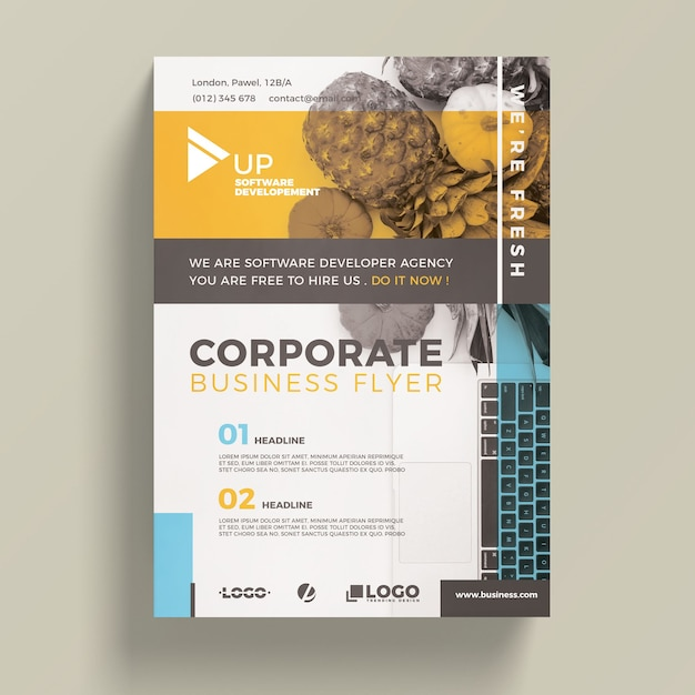 corporate business flyer template psd file free download. Black Bedroom Furniture Sets. Home Design Ideas