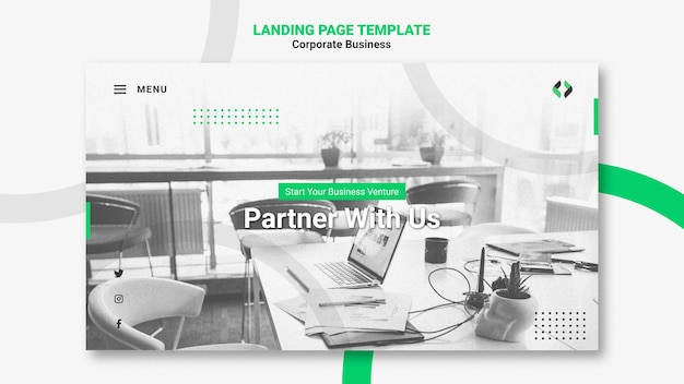 Corporate business landing page Free Psd