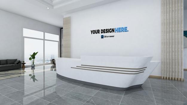 Corporate business office front desk mockup Premium Psd