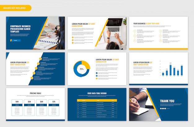 Corporate business presentation slider template Premium Psd