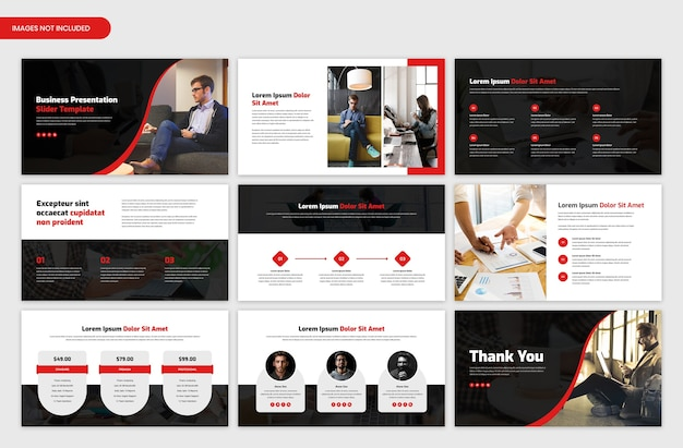 Corporate business presentation and startup project overview slider template design Premium Psd