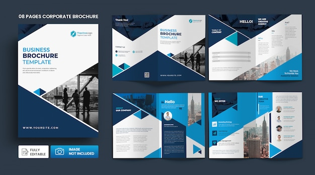 Corporate business profile pages brochure  template Premium Psd