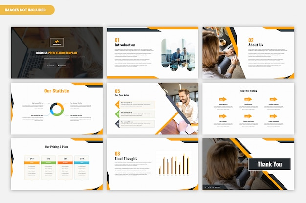 Corporate business and project presentation template Premium Psd