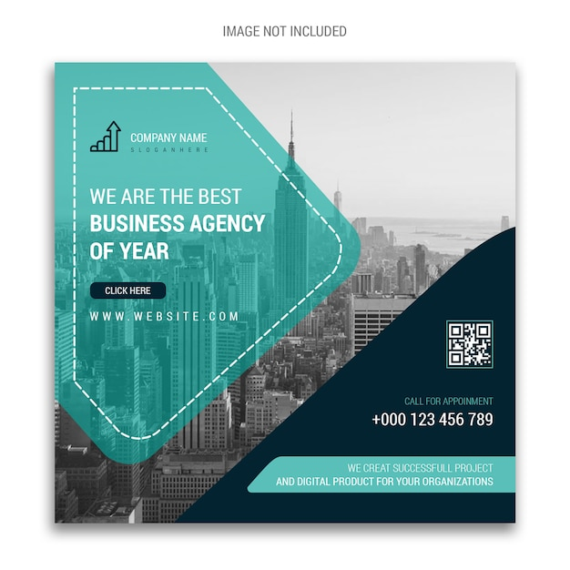 Corporate business social media banner Premium Psd