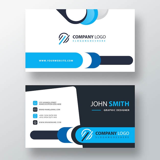 Corporate card template Free Psd