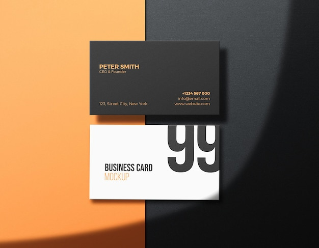 Corporate clean business card mockup