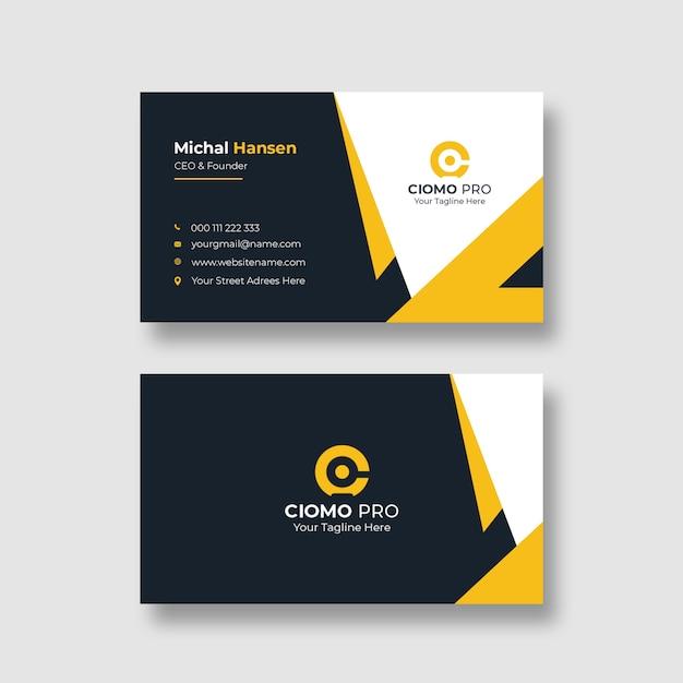 Шаблон корпоративной чистой визитки Бесплатные Psd