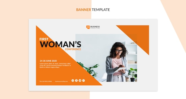 Corporate conference concept for banner template Free Psd