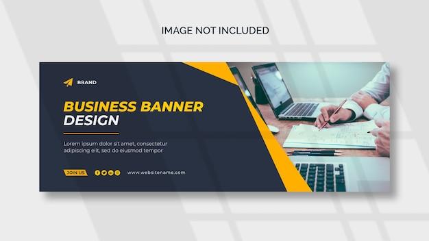 Modello di copertina o banner web aziendale Psd Gratuite