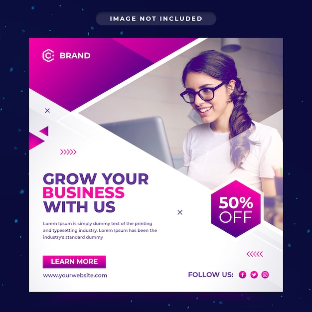Corporate and creative business agency instagram banner or social media post template Premium Psd