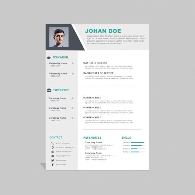 Corporate curriculum vitae template Free Psd