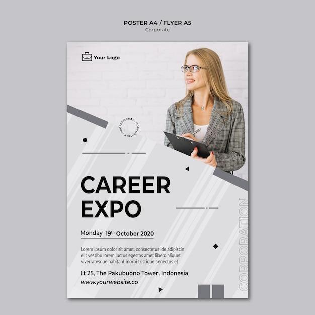 Modello di poster design aziendale Psd Gratuite