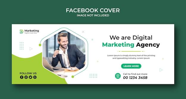 Corporate and digital business marketing promotion facebook cover design Premium Psd