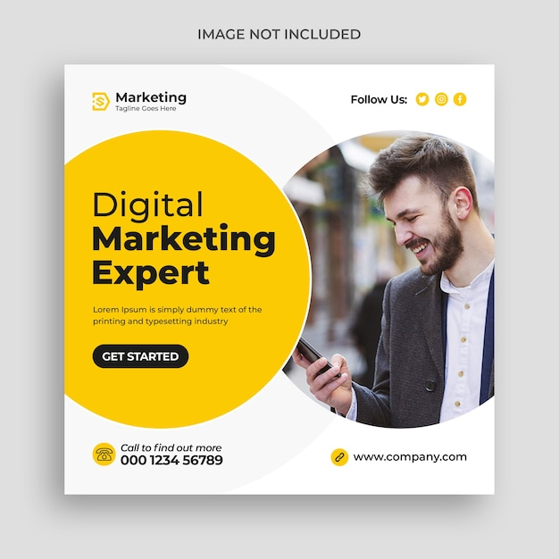 Corporate and digital business marketing promotion social media banner Premium Psd