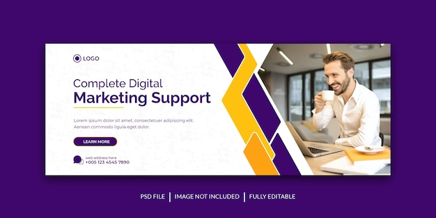 Corporate and digital business marketing promotion social media cover template Premium Psd