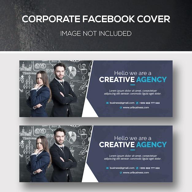 Corporate facebook cover psd template Premium Psd