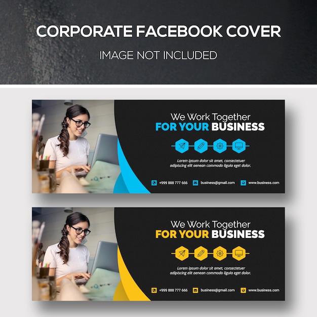 Corporate facebook cover Premium Psd