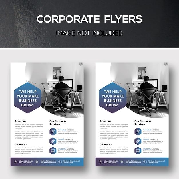 Corporate flyer Premium Psd