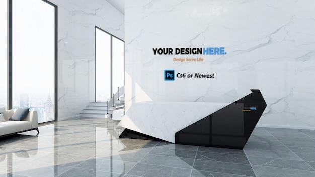 Corporate front desk mockup Premium Psd