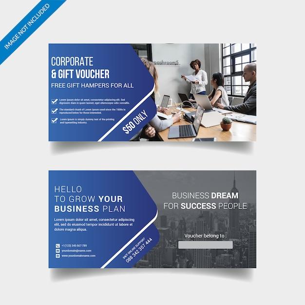 Corporate gift voucher Premium Psd