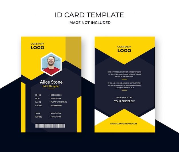Corporate Id Card Template PSD File