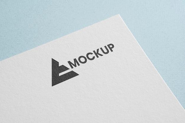 Corporate identity mock-up logo with pyramid Free Psd