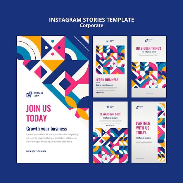 企業のinstagramストーリー 無料 Psd