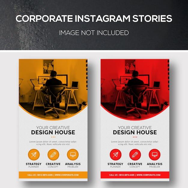 Corporate instagram stories Premium Psd