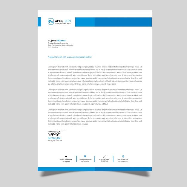 Corporate letterhead design template Premium Psd