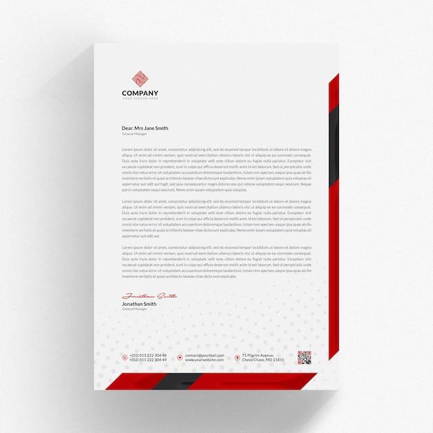 corporate letterhead mockup psd file premium download